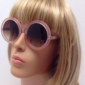 Wildfox Malibu Retro Round Sunglasses (Rose/Brown)